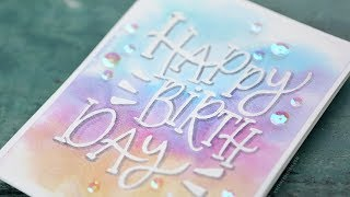 Relaxing Watercolor Painting Lettering Birthday Card Youtube