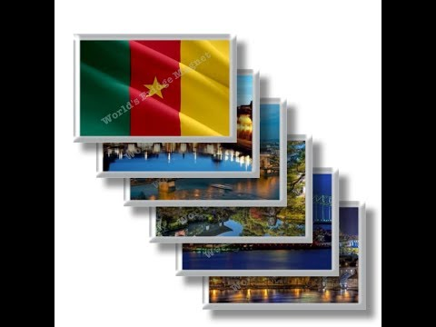 CM - Travel in CAMEROON - rectangular magnets and souvenirs
