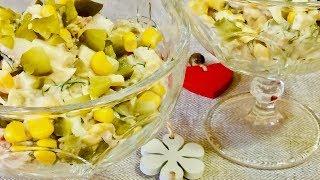Очень простой и вкусный салат с тунцом. Рецепты салатов.