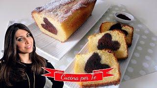 Plumcake con Cuore al Cacao - Ricette di San Valentino