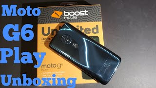 Moto G6 Play Detailed Unboxing and First Boot Up (Boost Mobile) HD
