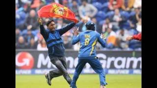 Protester runs on pitch in cricket semi-final