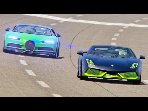Bugatti Chiron With NOS 5000 HP Vs Lamborghini Gallardo Monster Electirc - Nardo