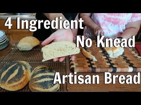 How to make 4 Ingredient  No Knead Artisan Bread, in 8 minutes with Big Family Homestead