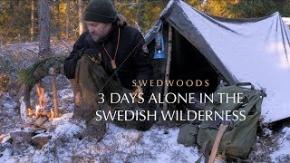 3 Days Solo Off Trail Winter Hike  - Kuksa Carving - Natural Growth Bushcraft Chair
