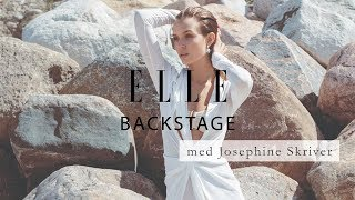 On cover shoot with Josephine Skriver