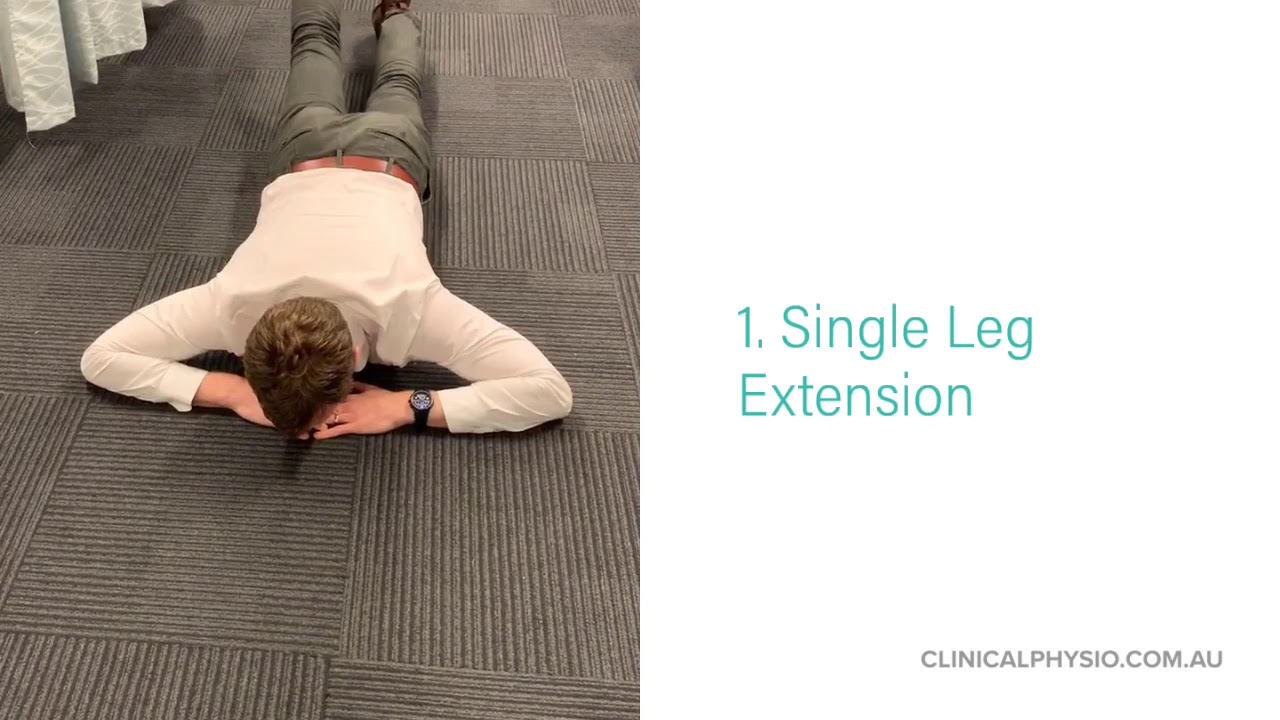 Spinal Extensor Strength Progressions