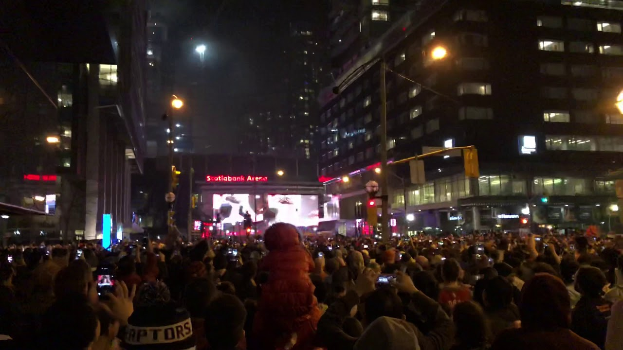 The Raptors are going to the NBA Finals and Toronto fans are going nuts