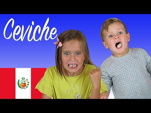 American Kids try food from Peru   Ceviche