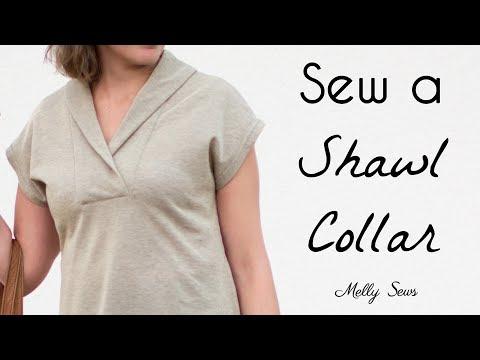 Learn To Sew A Shawl Collar - Sora Sewalong