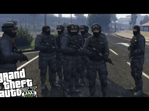 GTA 5 PC S.W.A.T Police MOD - S.W.A.T TEAM VS CRAZY RIOT MOD (Grand Theft Auto 5 S.W.A.T MOD)