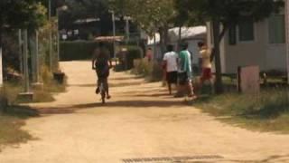 Blanes, bicicletas en el camping