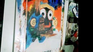 Lord Jagannath arcylic painting 🔥//sketchbookk_2.0