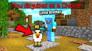 Trolling my brother in minecraft with a disguise plugin