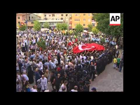 PM Erdogan visits scene of bombings, statement, funerals