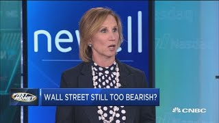 Bank of America's Mary Ann Bartels says there's too many bears on Wall Street, but that's a good thi