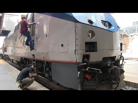 Amtrak Train Coupling up at DC Union Station