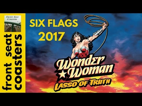 Six Flags America Wonder Woman Coming In 2017! Extreme Swing Tower 242 feet! Lasso Of Truth