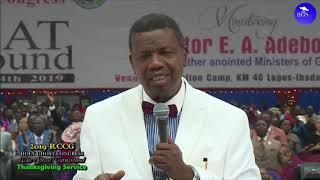 PASTOR E.A ADEBOYE RCCG 2019 CONGRESS PRAYER