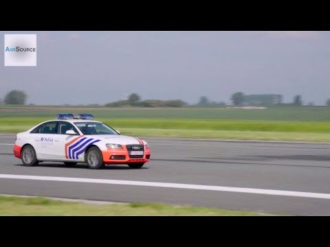 Belgian Federal Police Speedometer Calibration on Airstrip