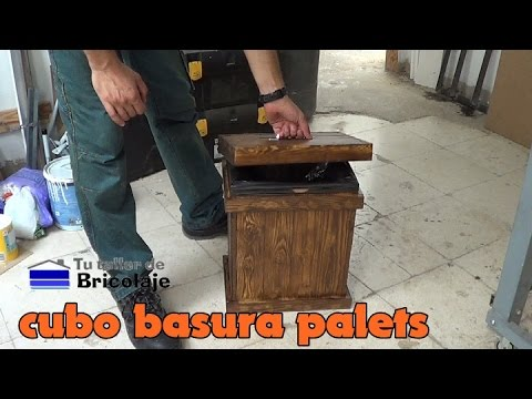 C mo hacer un cubo de basura con palets youtube - Que puedo hacer con un palet ...