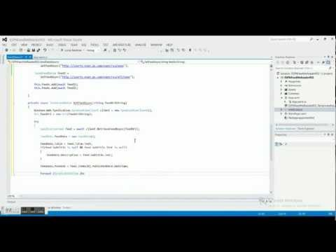 Windows 8 Programming Tutorial 2 - ESPN Feed - Feed Class 2