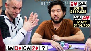 OMG!! Pocket Aces for Matt Berkey in Million Dollar Cash Game ♠ Live at the Bike!
