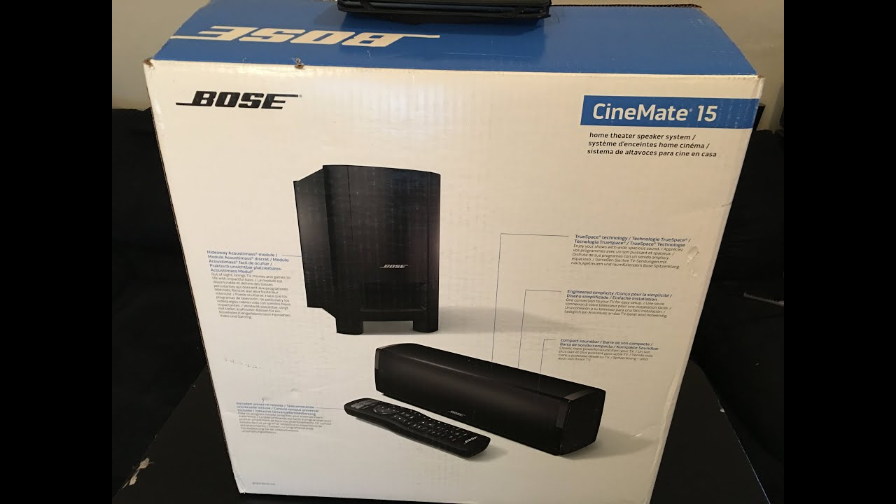 Bose Home Cinema Bose Cinemate 15 Home Theater System Vs Samsung Unboxing & Demo - Youtube