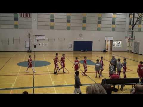 20161214 2 of 3 Bedford Junior High School Michigan 7th grade boys red team vs Lincoln