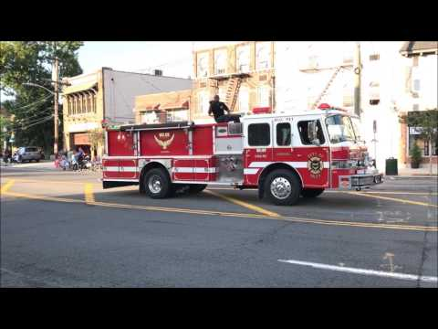 2017 MAMARONECK FIREMEN'S PARADE ON MAMARONECK AVENUE IN WESTCHESTER COUNTY, MAMARONECK, NEW YORK.