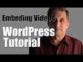 WordPress Embedding YouTube Videos into a WordPress page or post