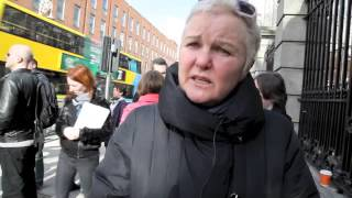 Cllr Brid Smith,  People Before Profit Alliance at housing protest