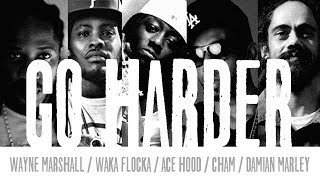 Wayne Marshall ft. Waka Flocka, Ace Hood & Cham - Go Harder (prod by Damian Marley) - November 2013
