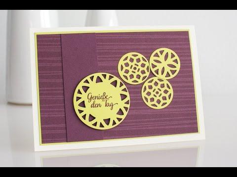 Grußkarte mit Stampin' Up! Thinlits Formen Orient-Medaillons