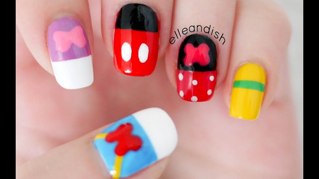 Walt Disney Friends Inspired Nails - YouTube