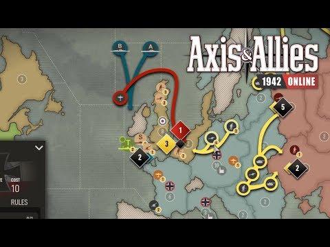 Axis & Allies 1942 Online: Game 14 vs Matt #5 Cutting off Britain |