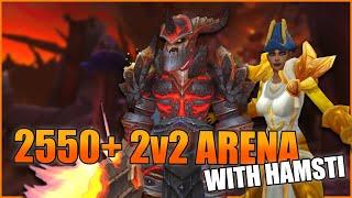 2550+ Arms Warrior / Holy Paladin 2v2 Arena w/ Hamsti - WoW BFA 8.3 Season 4 PvP