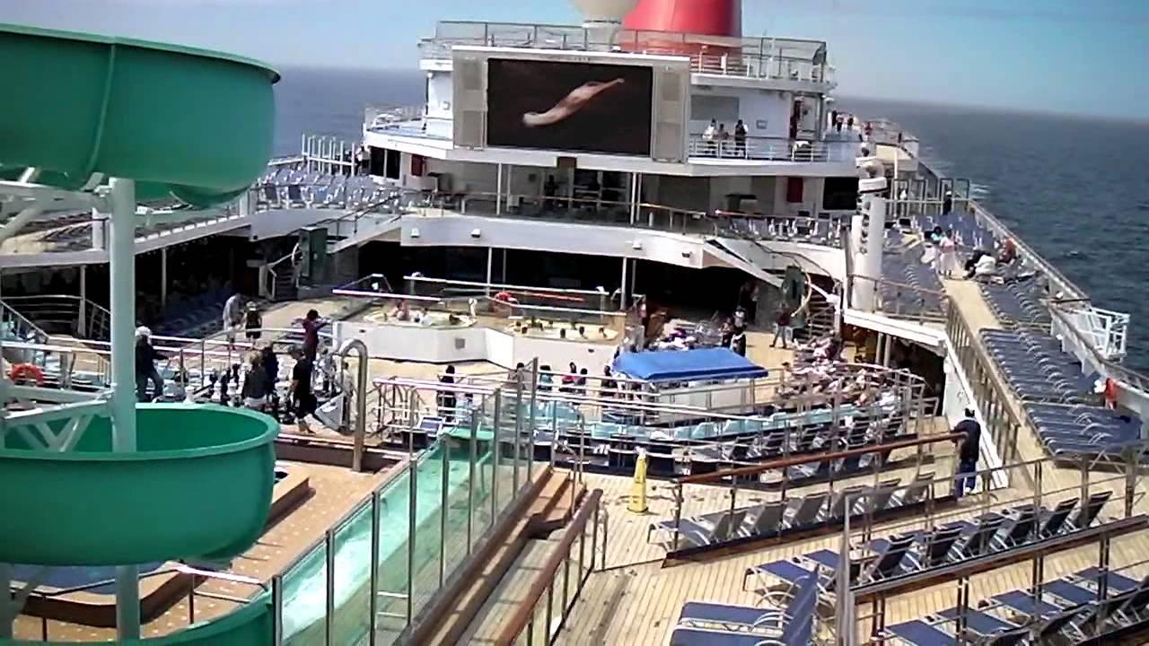 Carnival Glory Cruise (video 028) - Birds Eye View of Lido ...