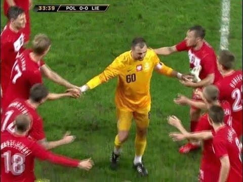 Pożegnanie Jerzego Dudka z reprezentacją podczas meczu Polska - Liechtenstein
