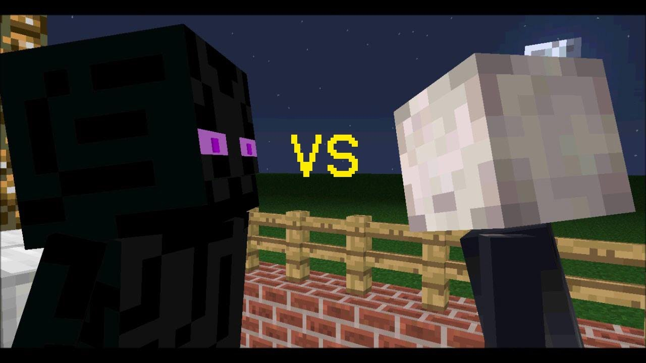 minecraft slenderman vs enderman part 2 youtube