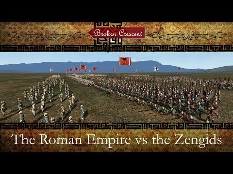 Broken Crescent v.2.4.2 - Roman Empire and Zengids preview -  Byzantine formation test battle
