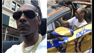 Snoop Dogg Joyrides 50 Cent Versace Lambo In New York For Tycoon Weekend