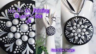 How to Paint Dot Mandalas #052 - Pendant Series #3 - Mini Mandala Painting