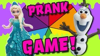 LOL Dolls Spin The Wheel Frozen Elsa VS Olaf Prank! Featuring Hatchimals and My Little Pony!