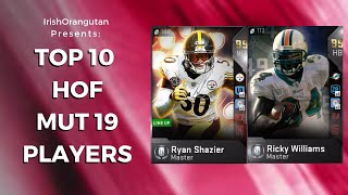 Top 10 Players That Would Make the Hall of Fame of Madden 19 Ultimate Team!