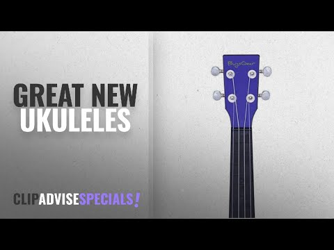 Bugsgear Ukulele Ukuleles [2018]: BugsGear Ukulele BL/BK Cobalt Adventure Travel Ukulele, Blue/Black