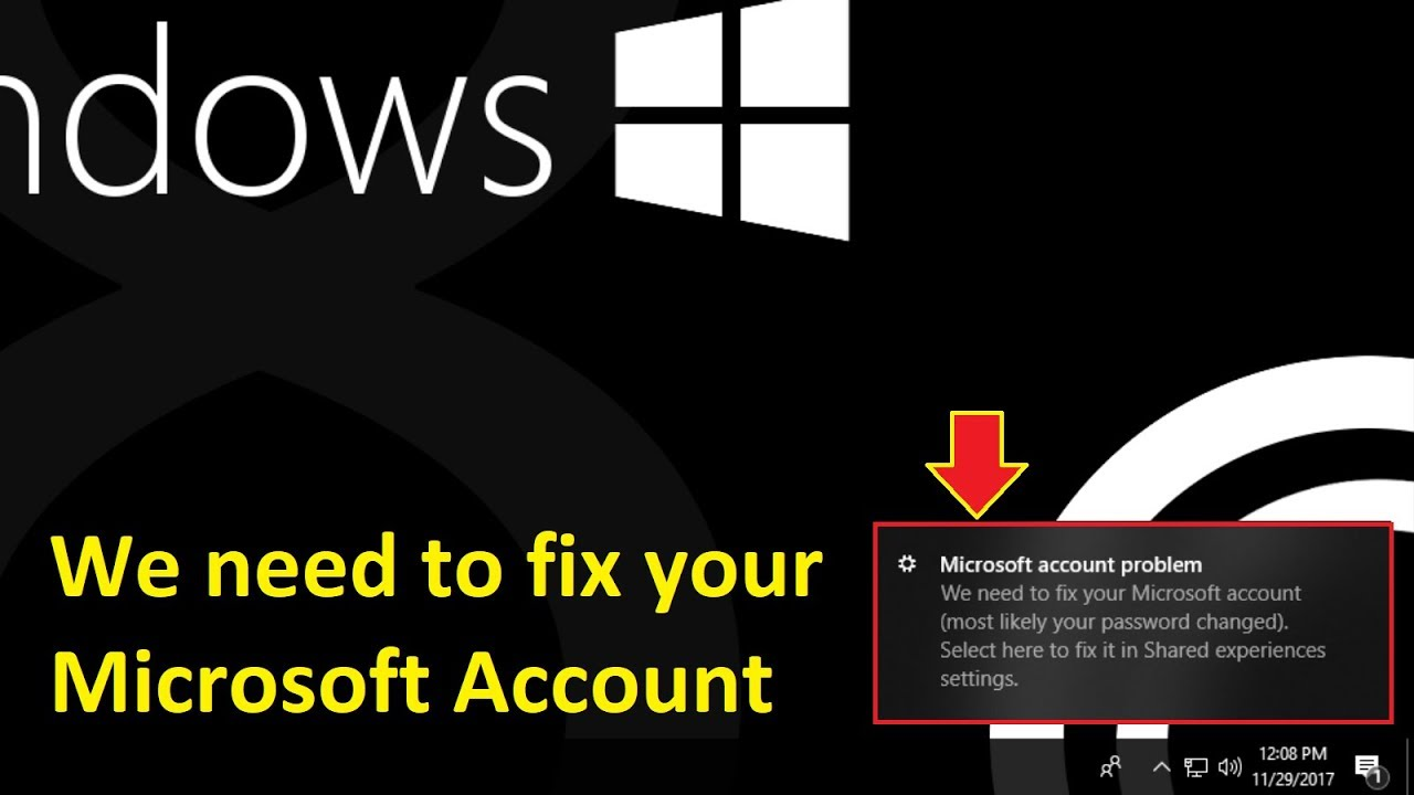 we need to fix your microsoft account