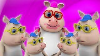 эта маленькая поросенок | детские стишки | Детские песни | This Little Piggy | Little Treehouse