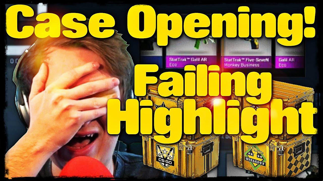 Cs go case opening extravaganza stream failing highlights youtube