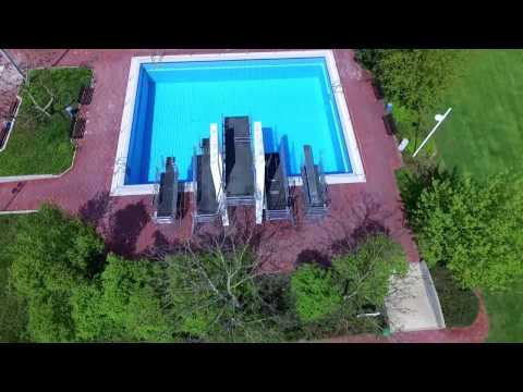 Neu-Isenburg aus der Luft: Waldschwimmbad | Air2Land Luftaufnahmen